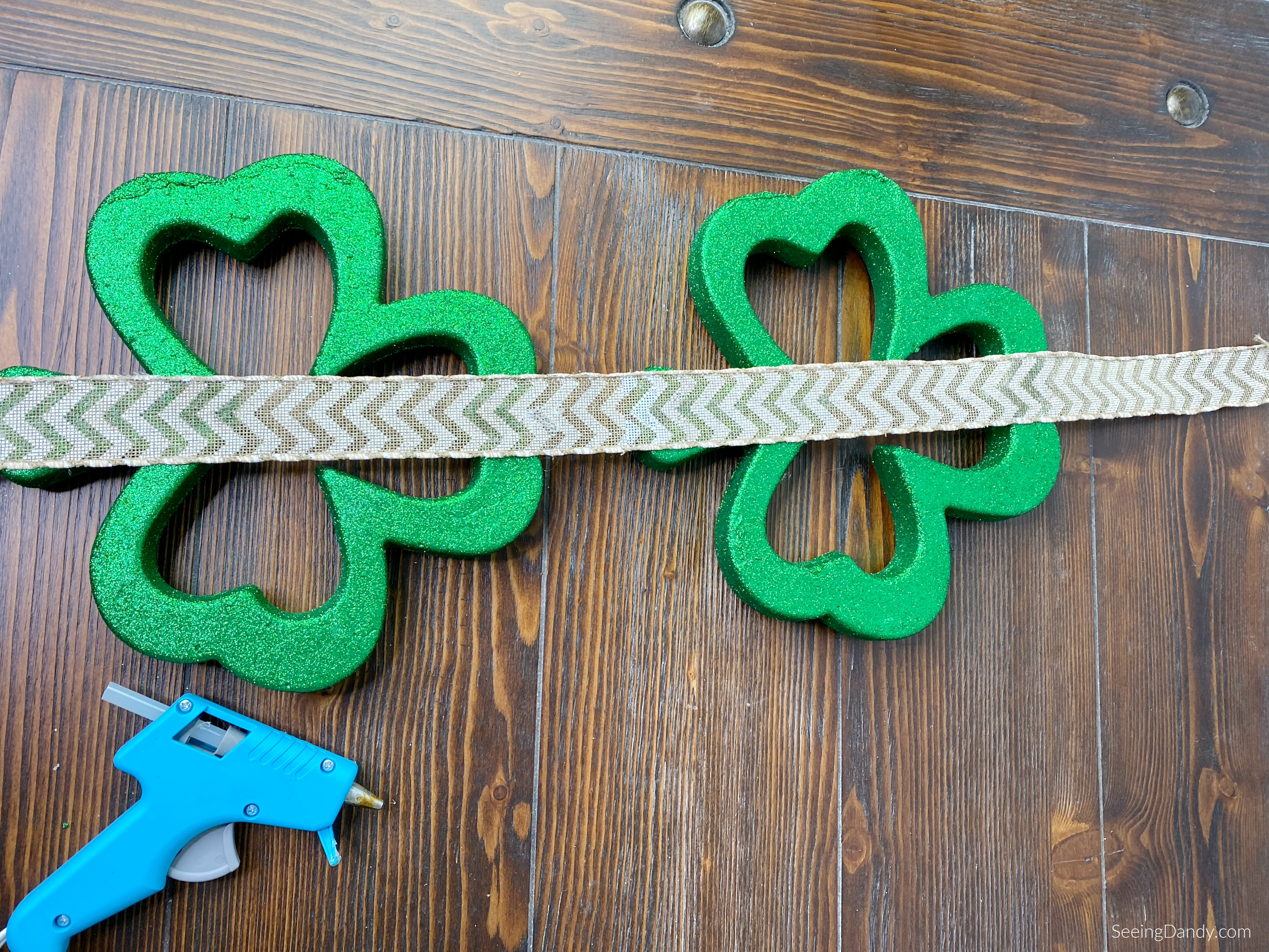 DIY St. Patrick's Day craft project.