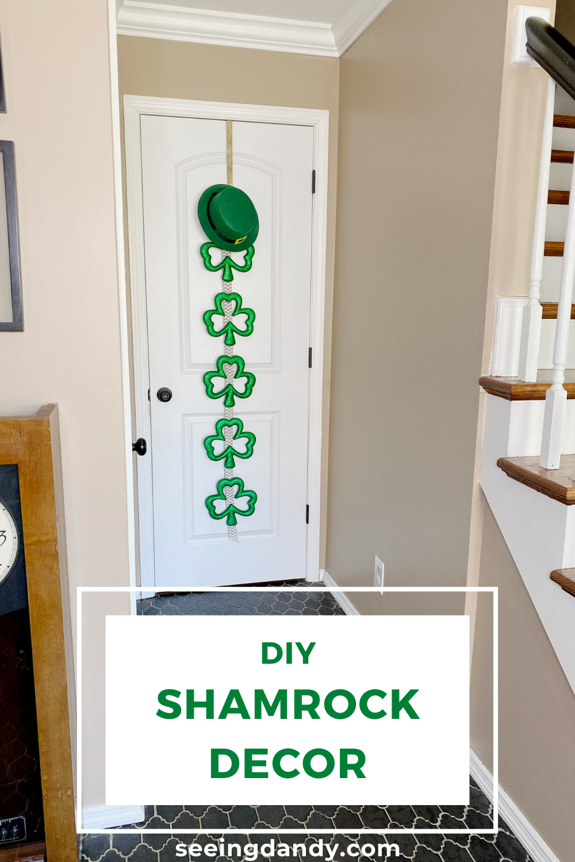 DIY St. Patrick's Day leprechaun farmhouse style door hanger.