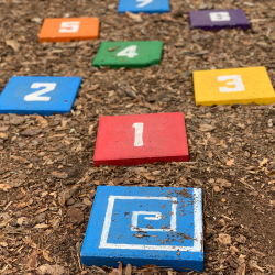 DIY hopscotch game