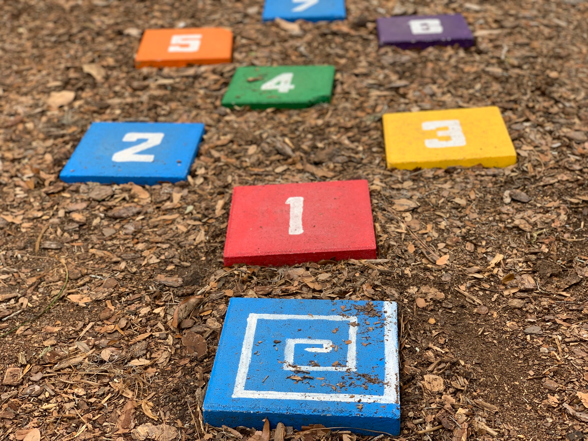 Easy to make DIY hopscotch game