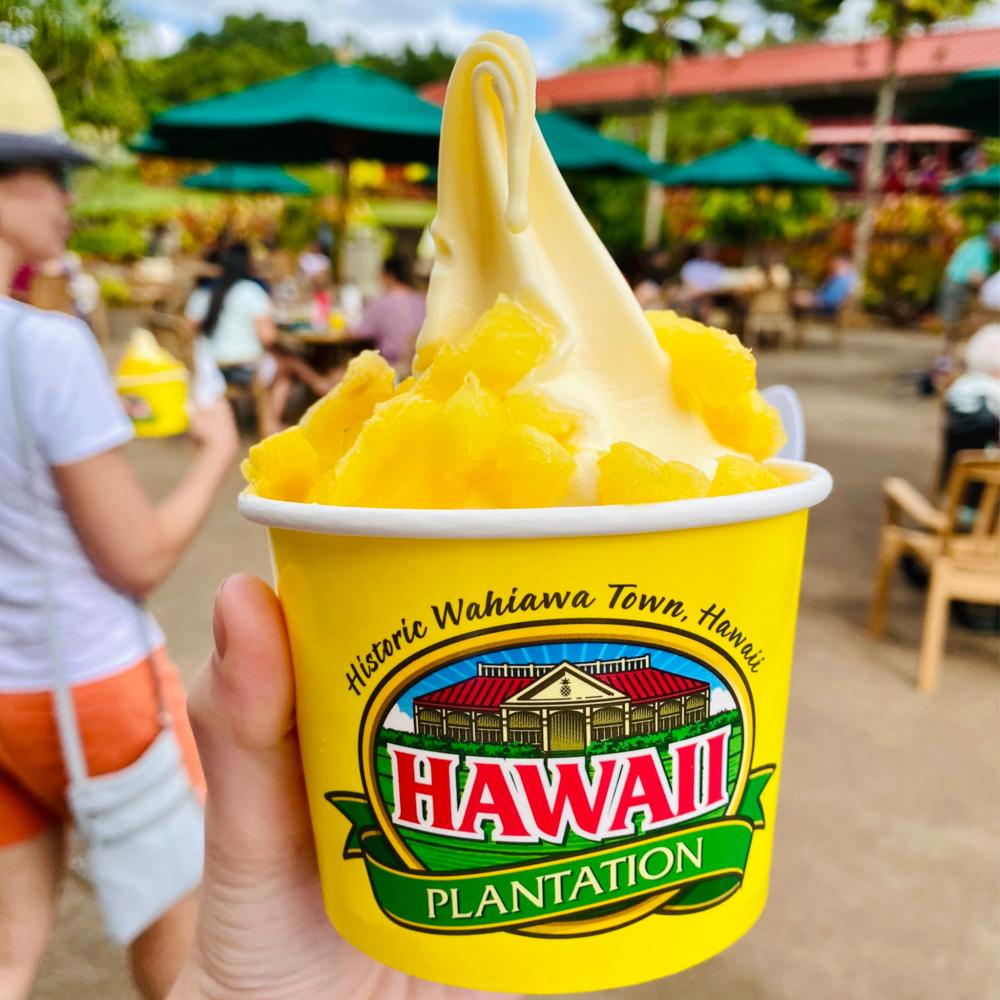 Hawaii Plantation Dole Whip soft serve