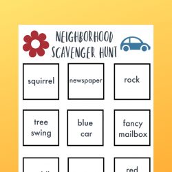 family scavenger hunt printable