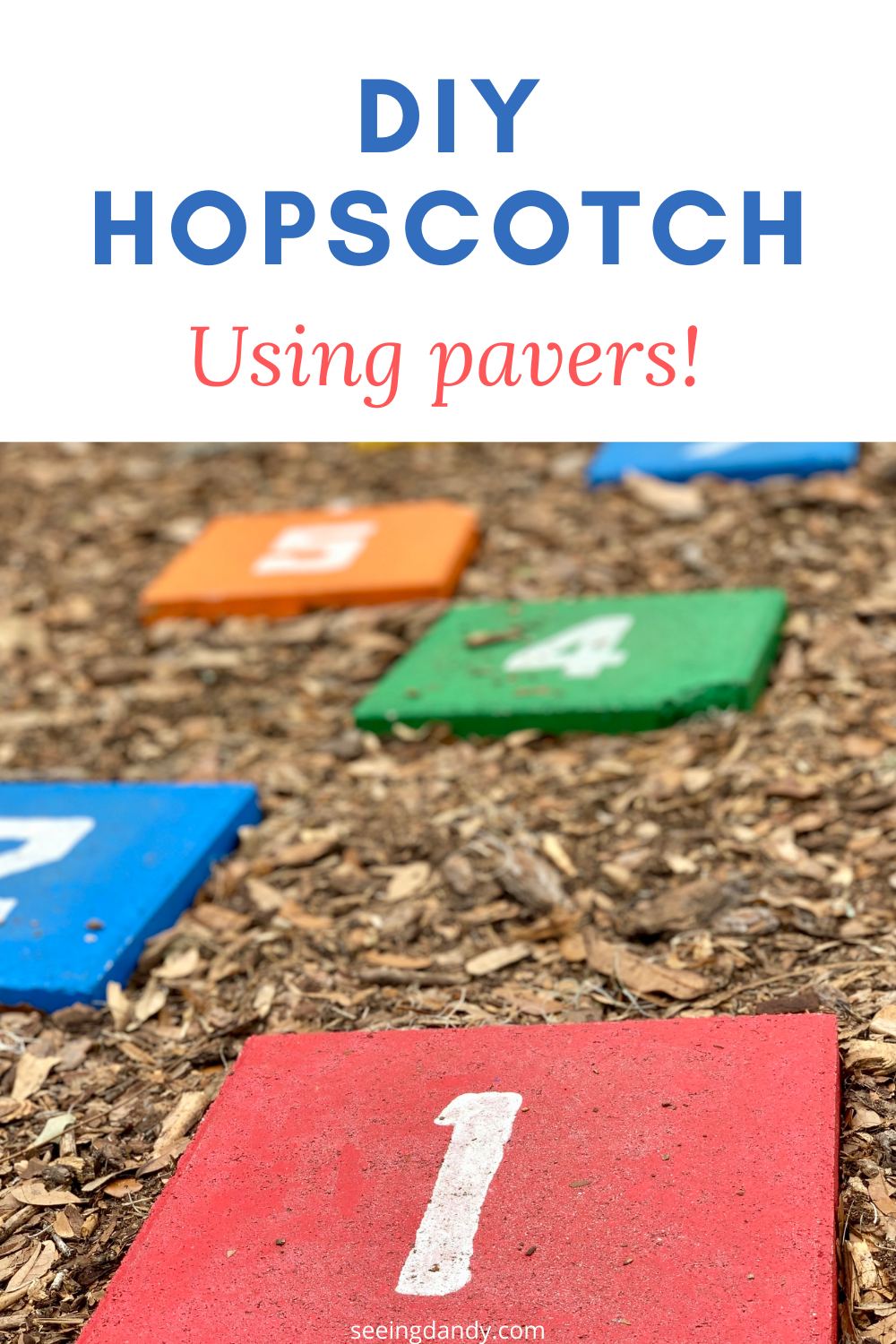 Easy to make DIY hopscotch game family activity