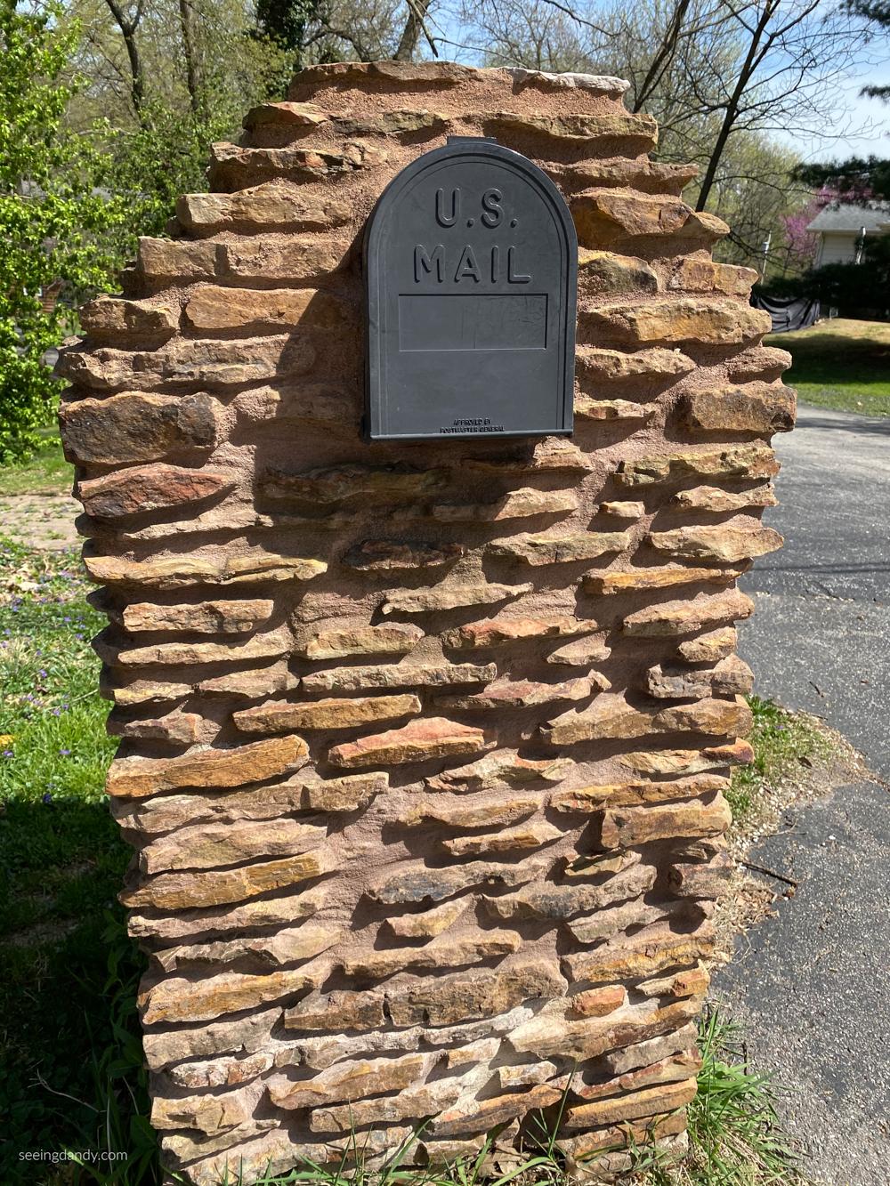 stone rock mailbox fancy mailbox