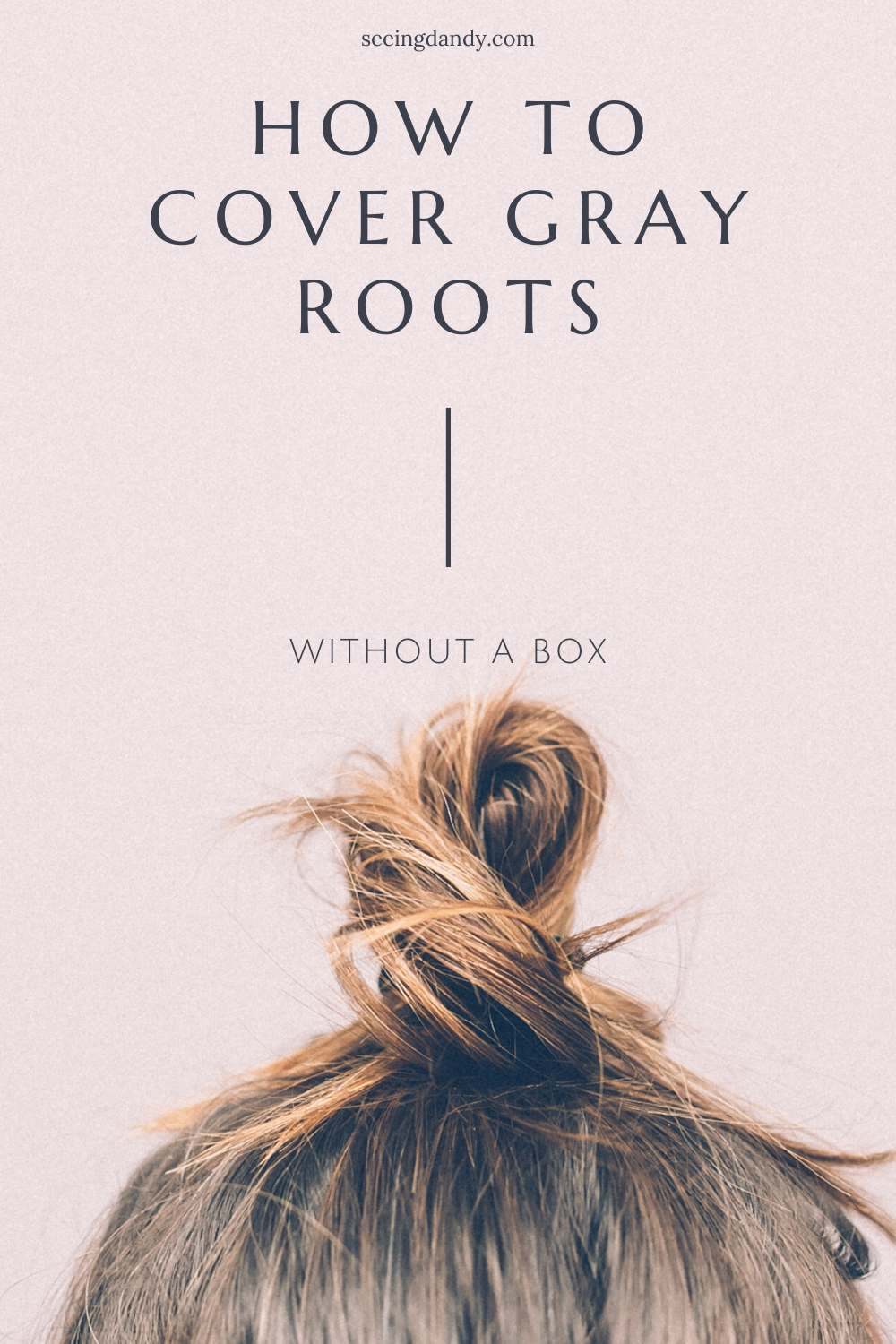 How to cover gray roots
