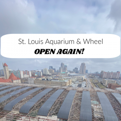 St. Louis Aquarium, union station, St. Louis Wheel, downtown St. Louis, midwest travel