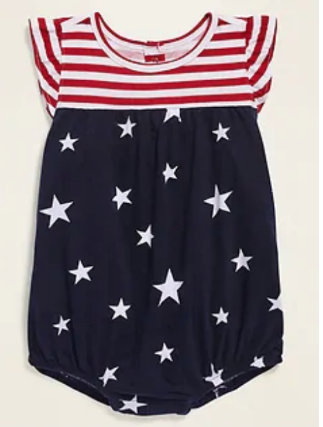 Old Navy american flag baby girl romper, americana outfits