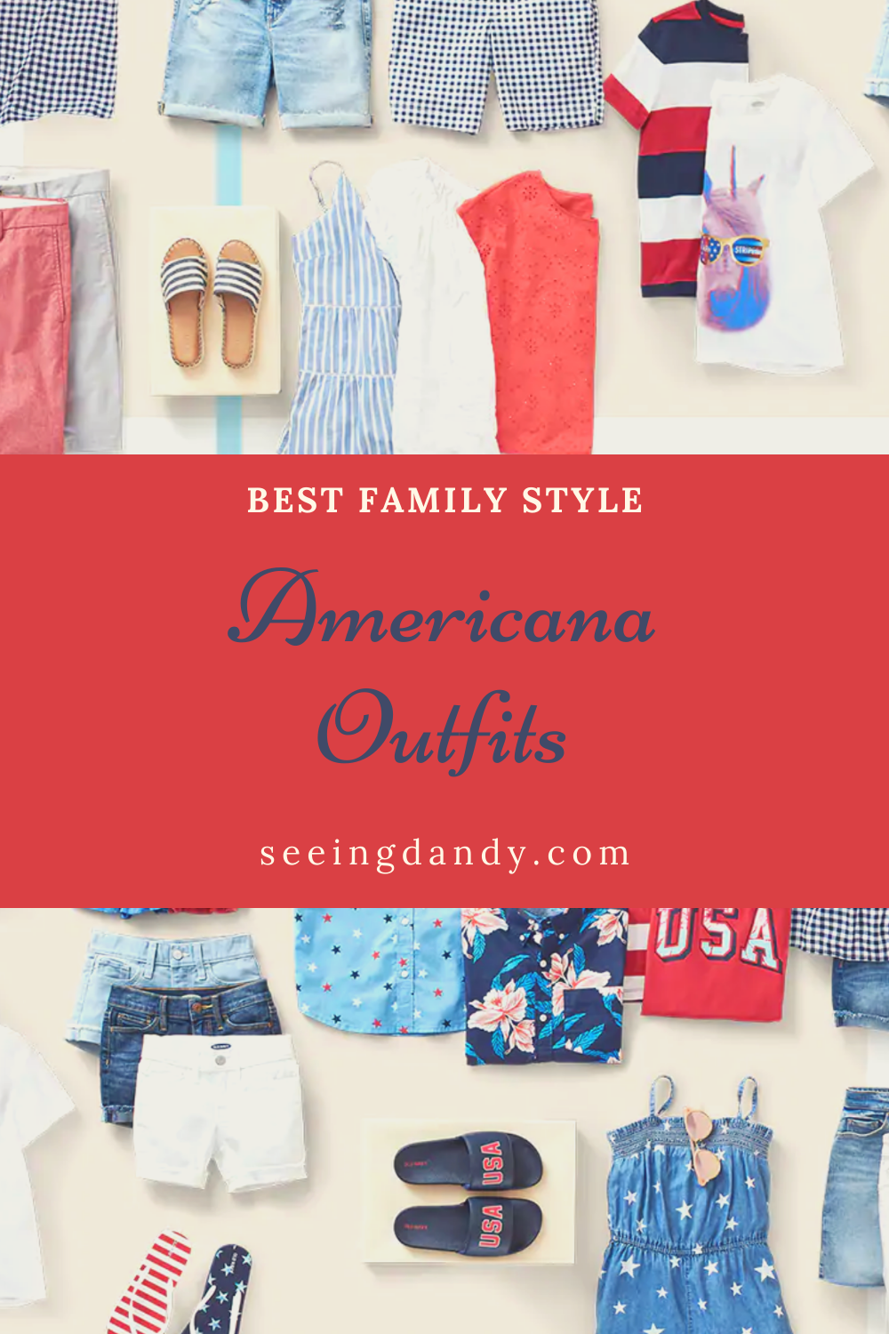 best americana outfits, family style, red white blue clothing