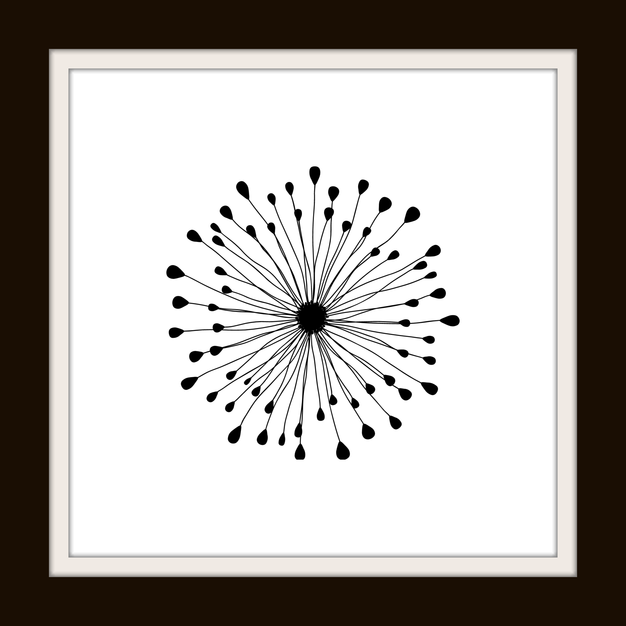 black and white dandelion puff free printable