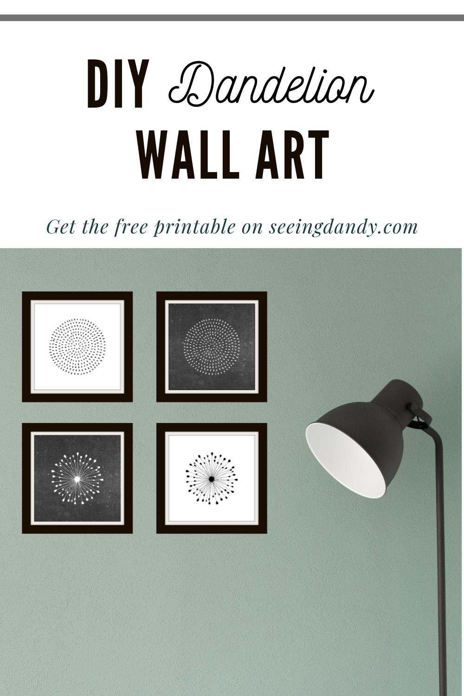 free printable dandelion wall art, diy, farmhouse style, modern farmhouse