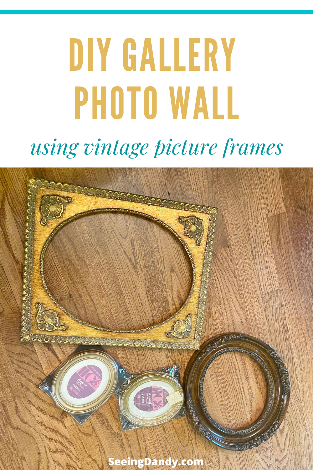 diy gallery photo wall vintage picture frames