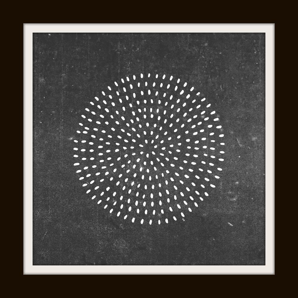 free circle art print
