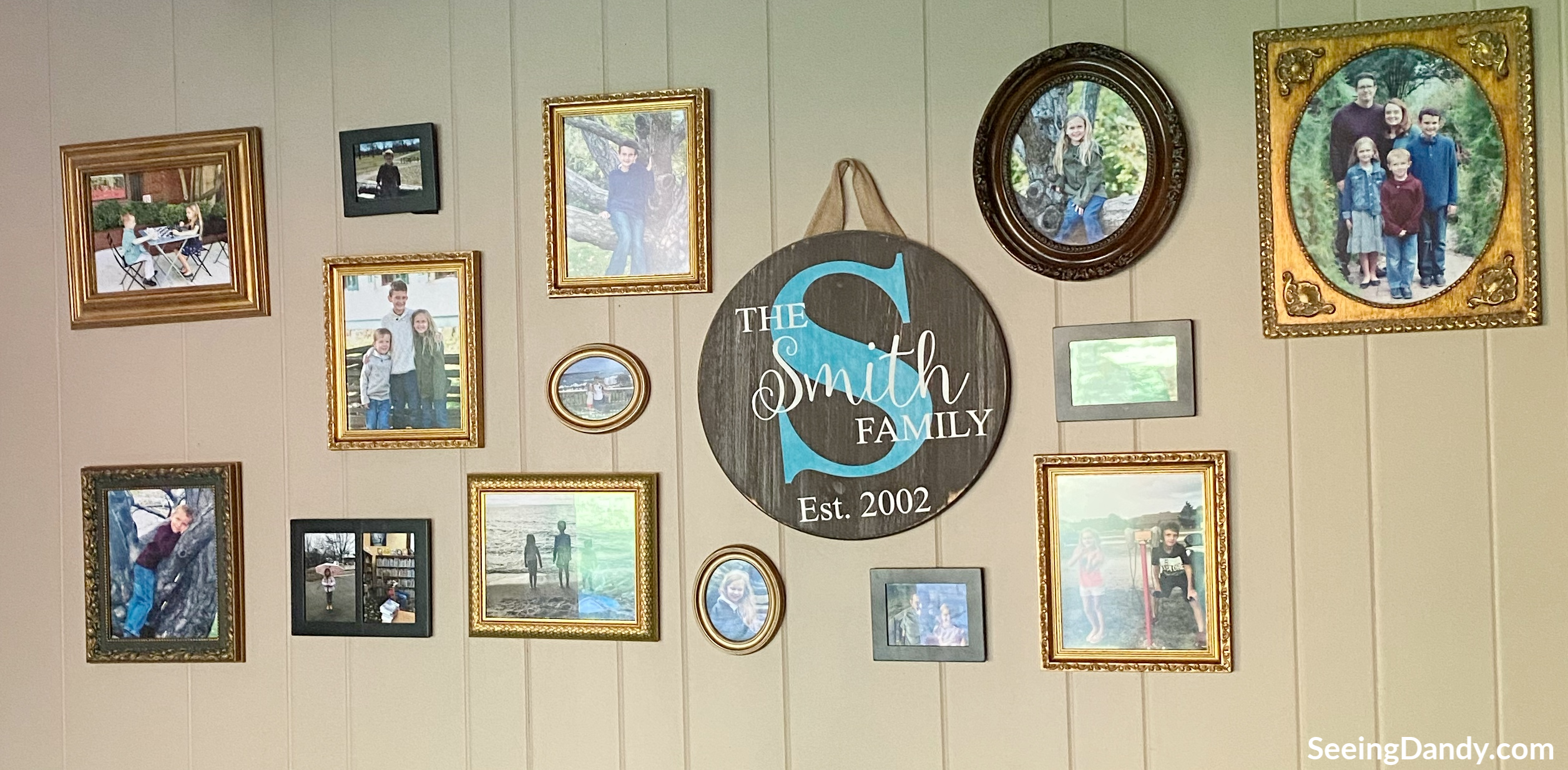 vintage picture frames, picture frames, gallery photo wall, farmhouse style, family pictures