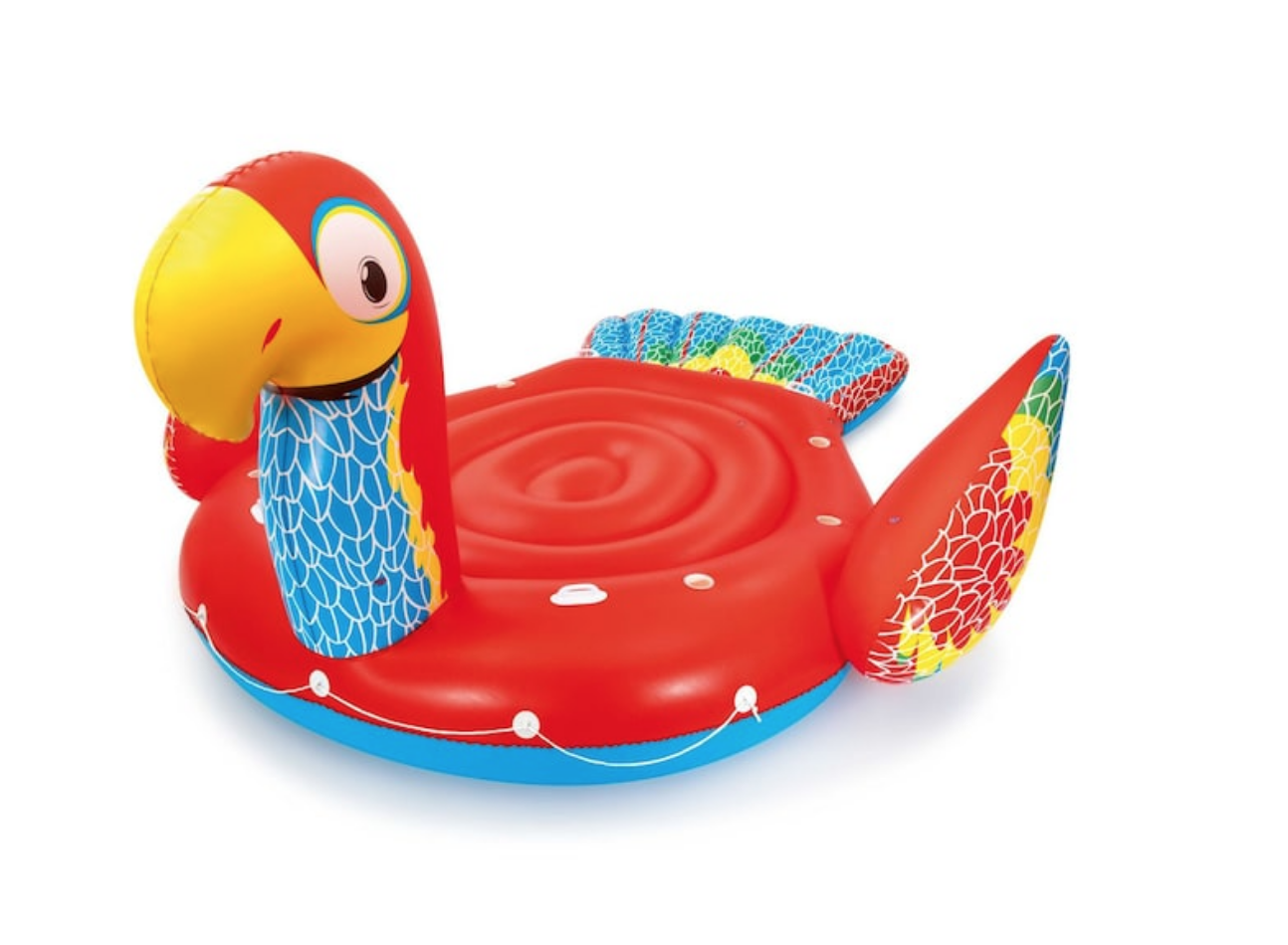 giant parrot pool float, red parrot floating pool toy, swim platform
