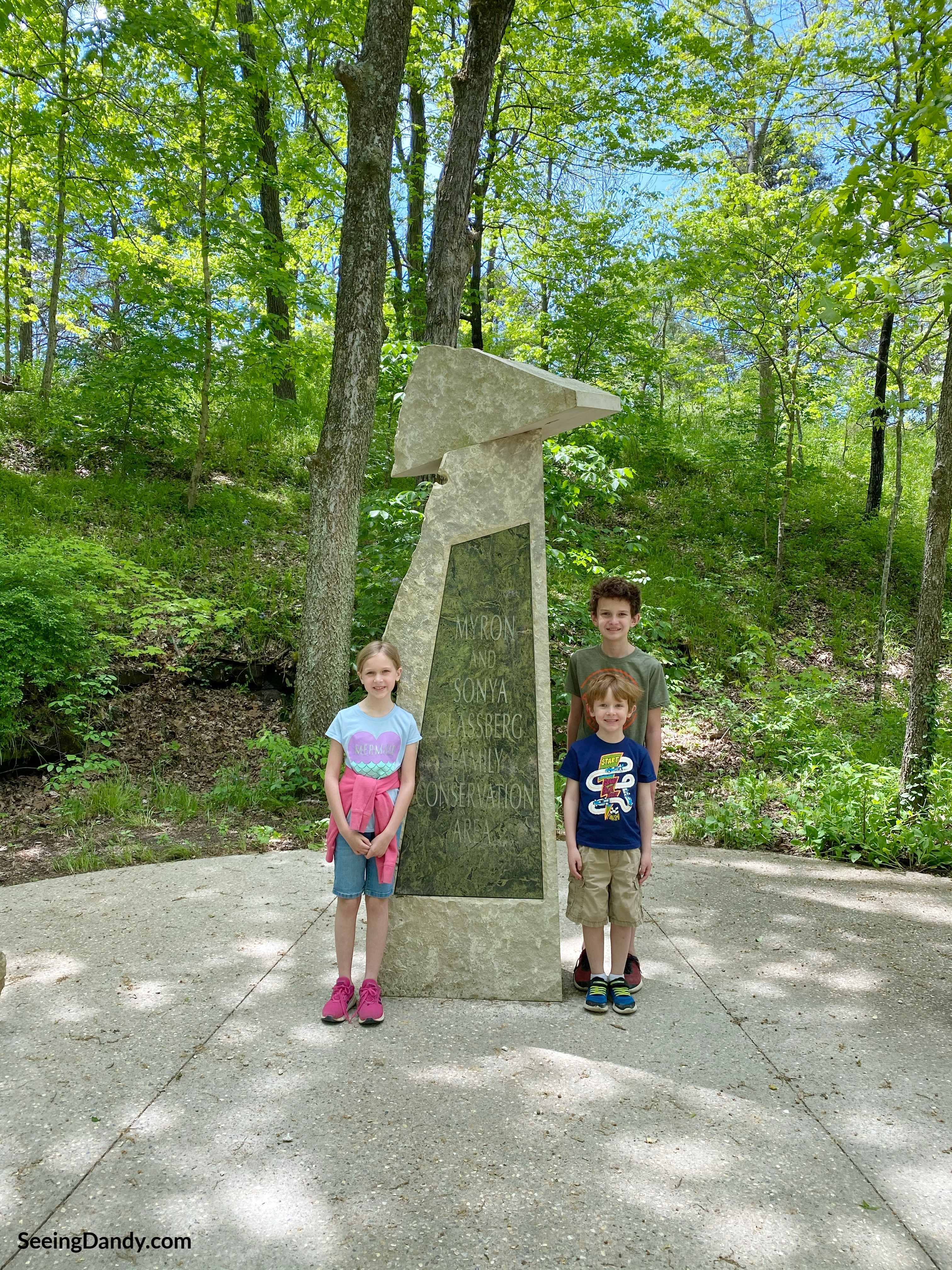 Myron and Sonya Glassberg Family Conservation Area monument