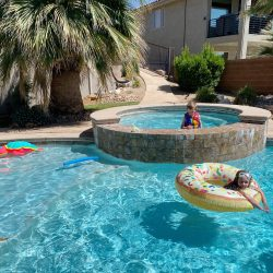 best pool floats, donut pool float, big joe turtle pool float, noodle pool float, swimming pool, palm tree, st george utah