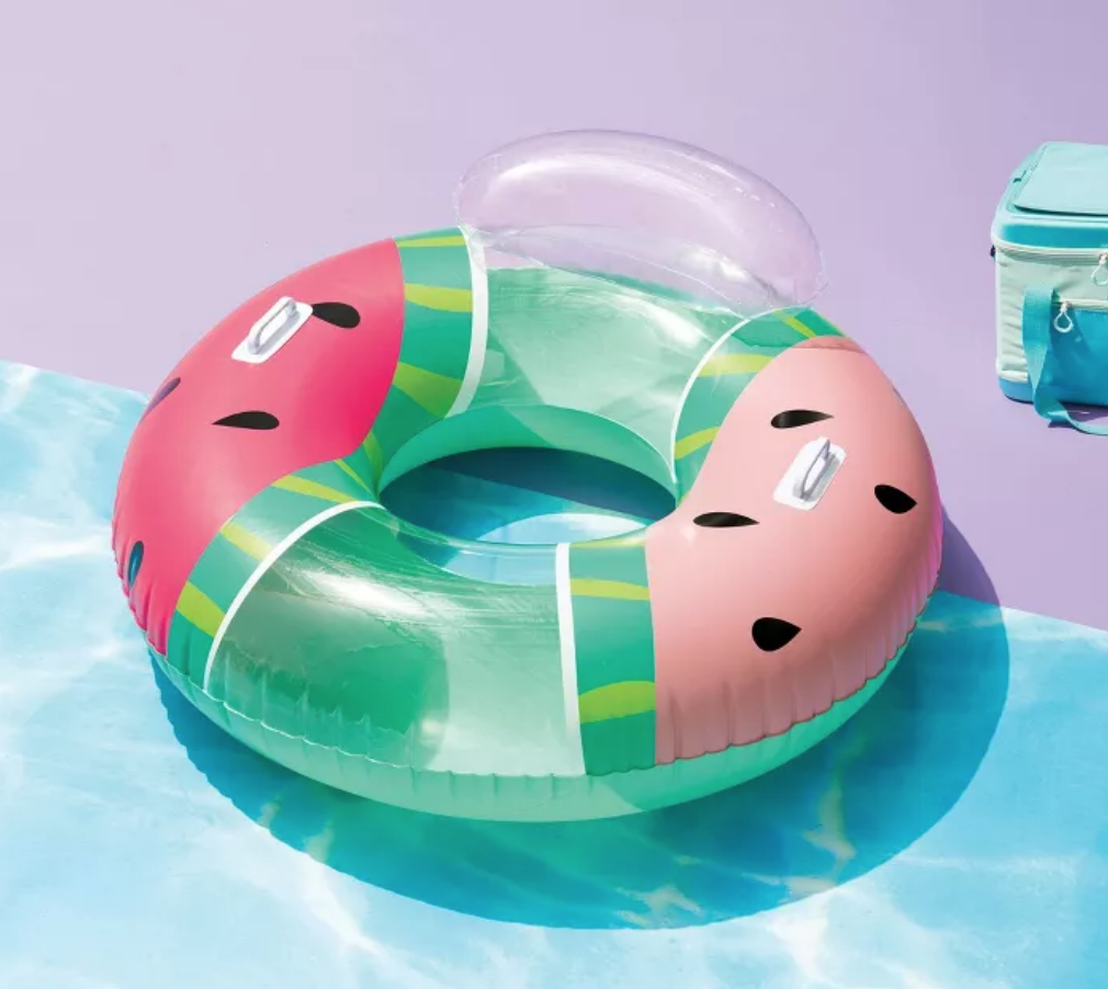 watermelon floating ring with pillow, swim ring