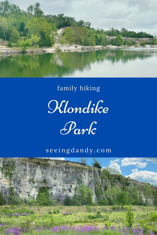 family hiking at klondike park