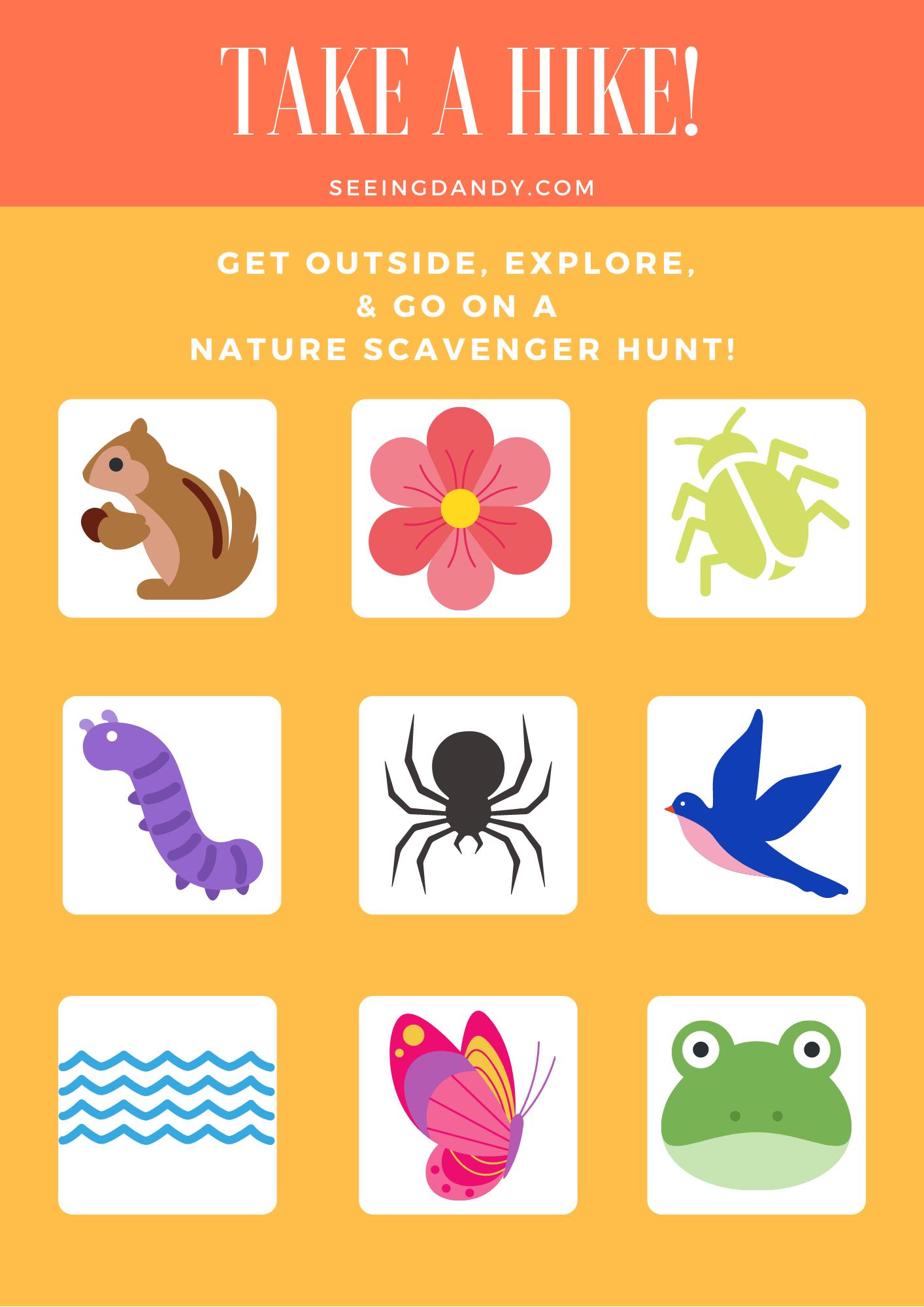 free printable, diy, nature scavenger hunt, hiking scavenger hunt, family fun, hiking adventures, hiking fun, hiking, st. louis, summer fun, free printables
