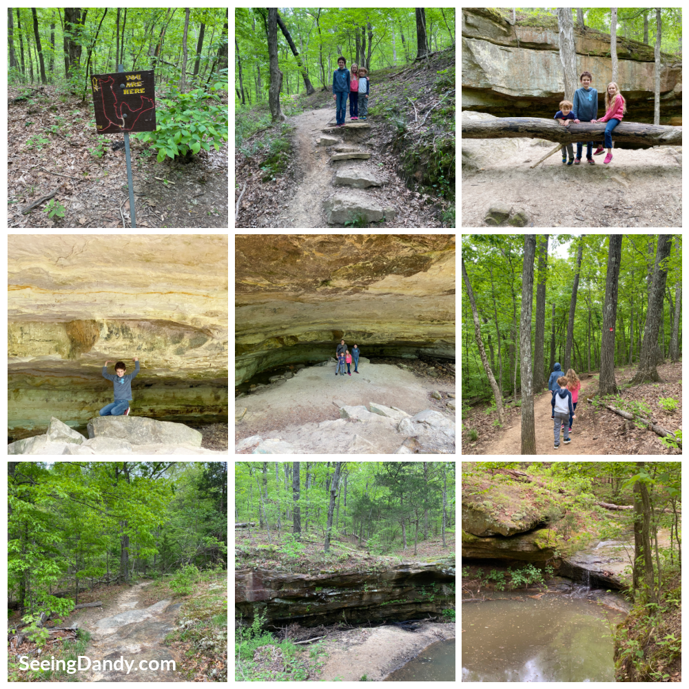 don robinson state park, sandstone canyon trail, family hiking, family travel, midwest hikes