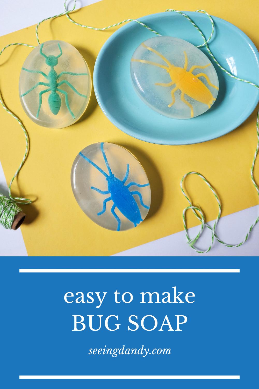 easy to make diy kids bug soap recipe
