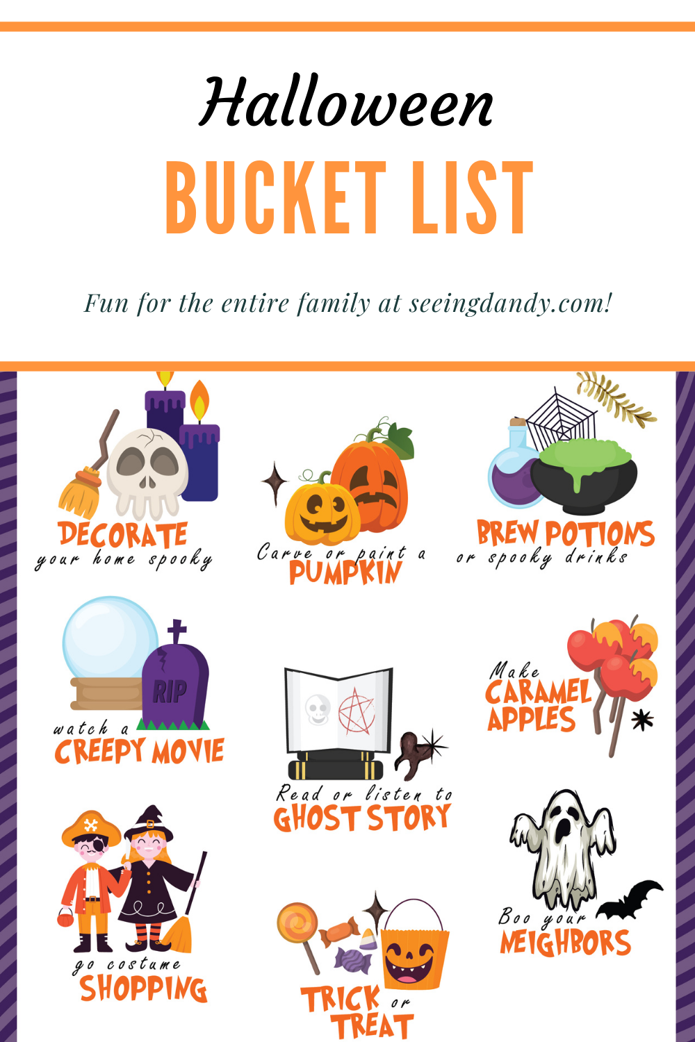 family halloween bucket list, family activities, family fun, fall activities