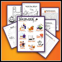 free halloween printables, Halloween bucket list, kids fun, free printables