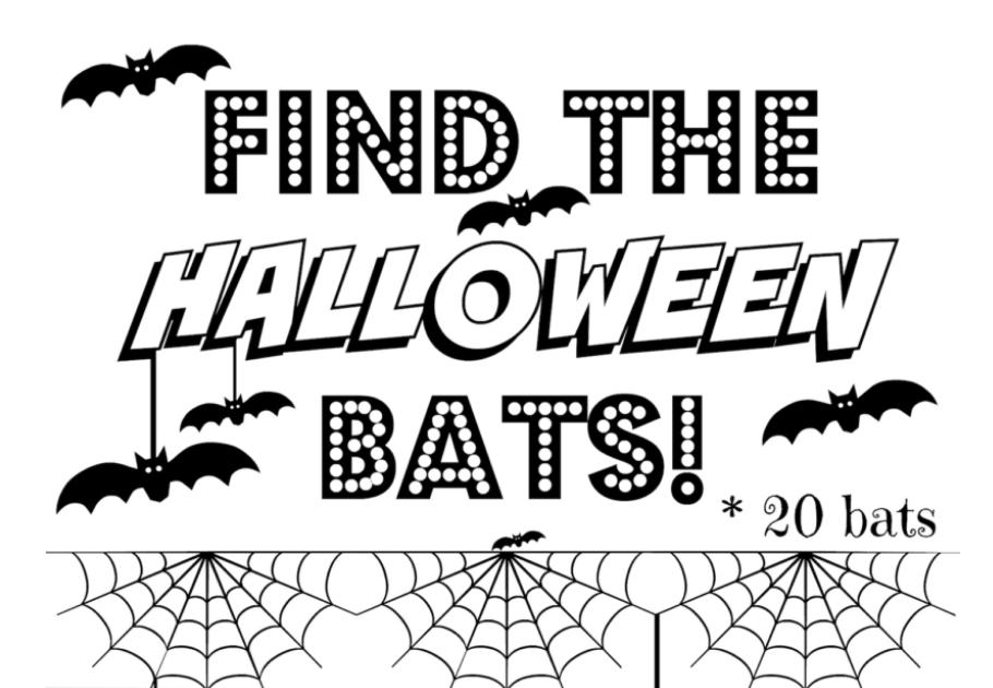 seek and find halloween bats