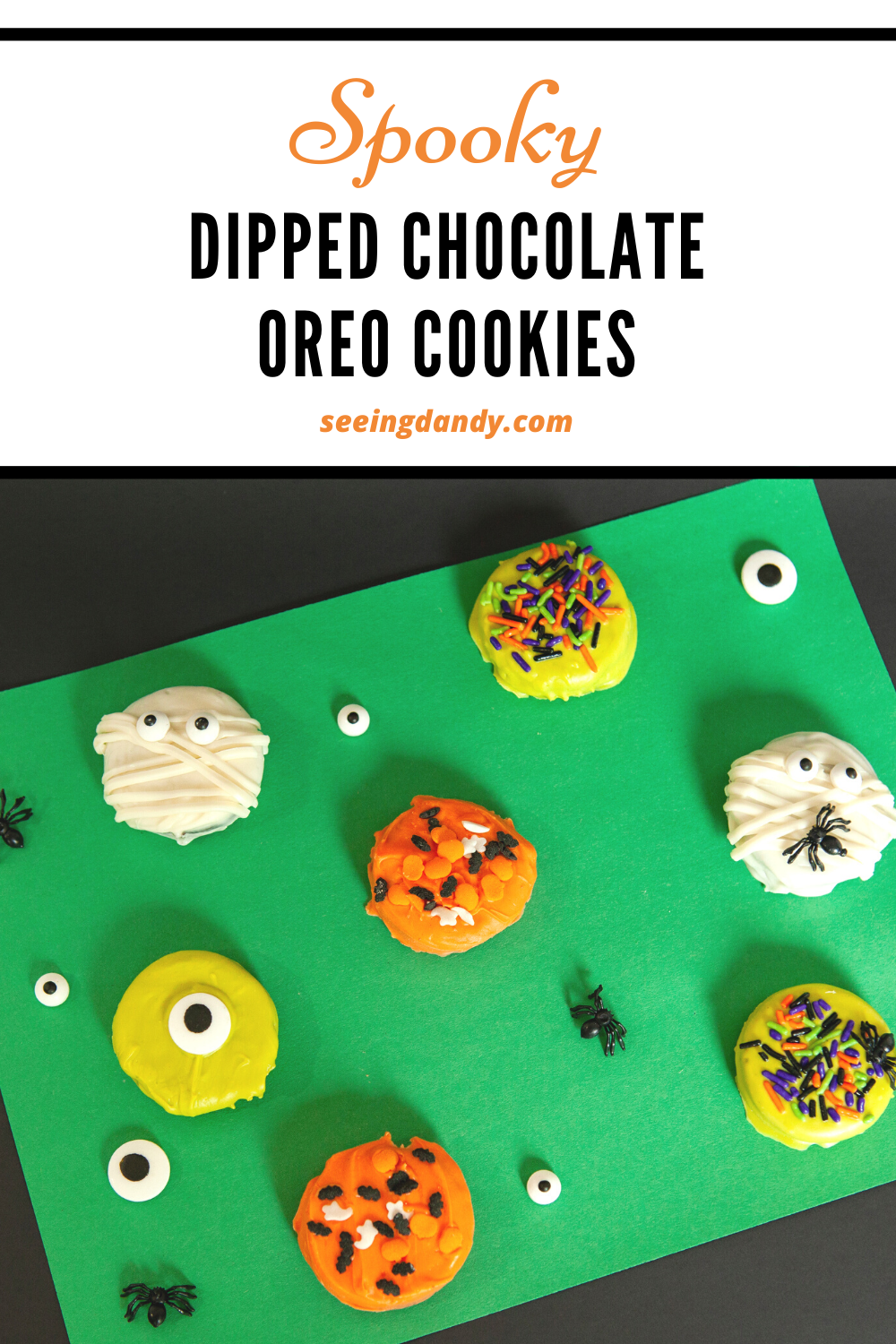 Halloween Dipped Chocolate Oreo, cookie recipes, spooky cookies, spooky recipes, delicious recipes, delicious cookies, holiday recipes, halloween recipe