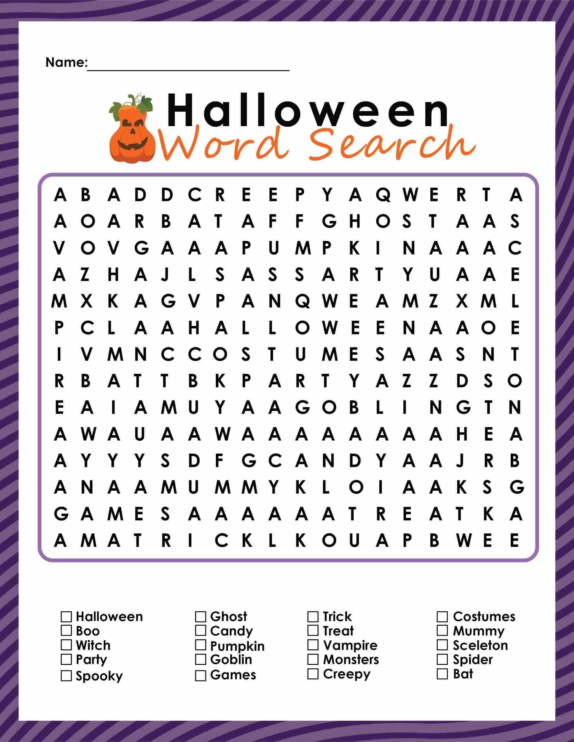 halloween word search, halloween prints, halloween fun, free printables school halloween party, free halloween printables