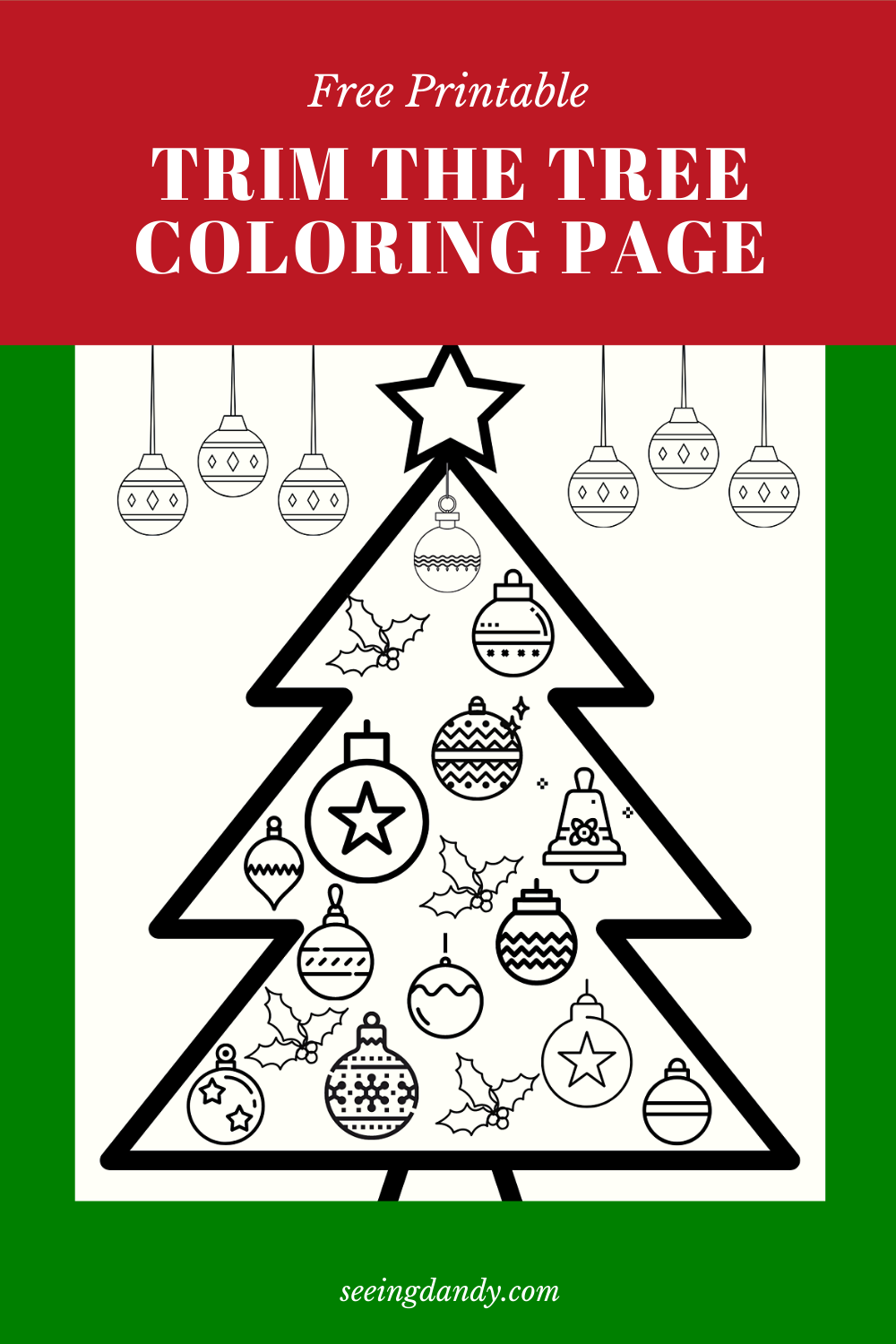 kids christmas coloring page, trim the tree, free printable, coloring sheet, kids crafts, school christmas party, holiday fun, christmas DIY