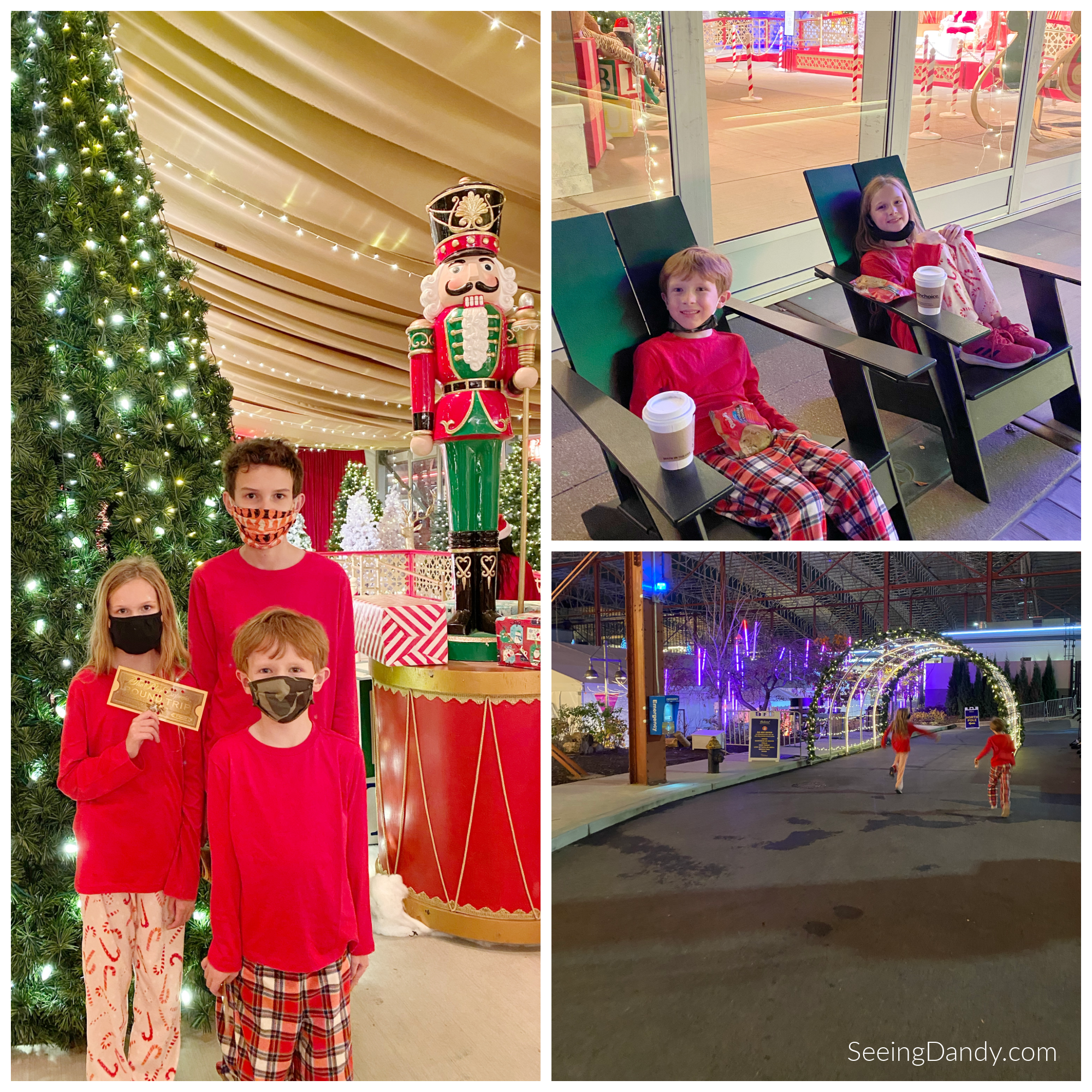 st louis polar express, christmas family fun, union station boardwalk, north pole, nutcracker holiday decorations, christmas tree, polar express hot chocolate, christmas lights
