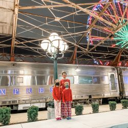 believe polar express experience, st louis union station, st louis family, union station train yard, st louis wheel, polar express train