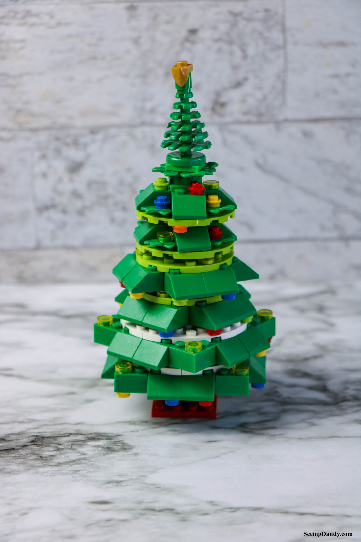 diy lego christmas tree, holiday decorations, christmas decor, kid crafts, easy crafting, lego ornaments, lego tree