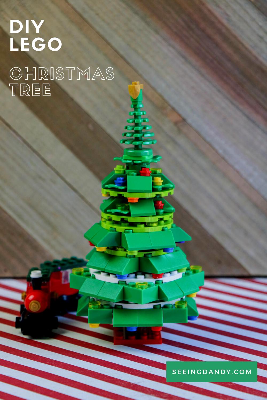 diy lego christmas tree, holiday decorations, christmas decor, kid crafts, easy crafting, lego ornaments, lego tree, lego train, christmas train