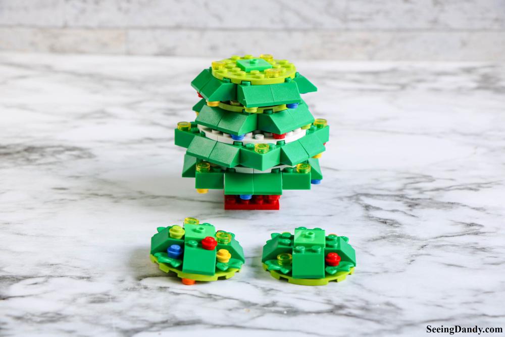 diy lego christmas tree, christmas decor, lego ornaments, holiday decorations, kids lego, lego instructions, lego plans