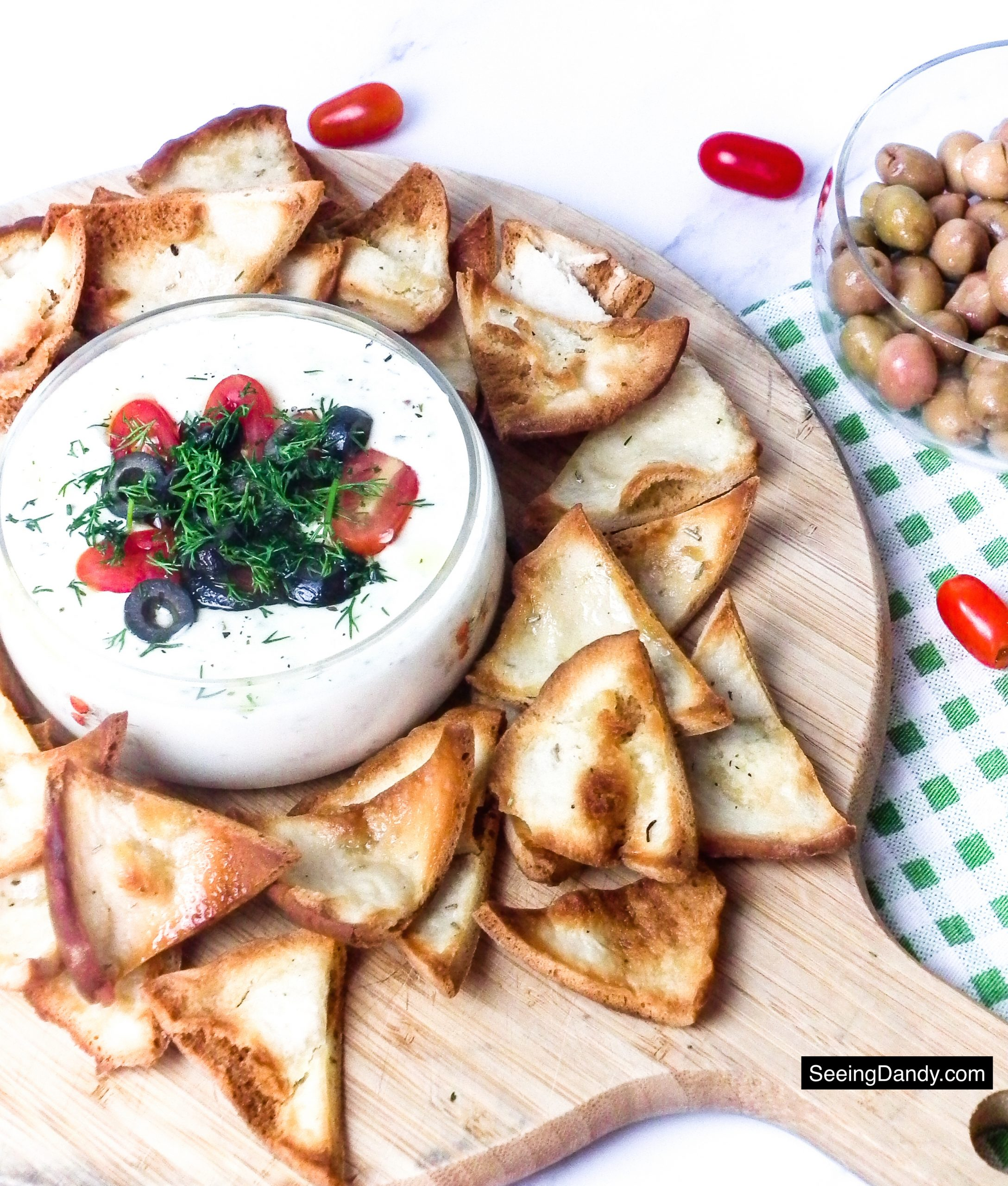 cheese fondue dip, easy recipes, appetizer recipes, super bowl food, party recipes, football party, super bowl party, big game, dip recipes, grape tomatoes, olives, homemade pita chips