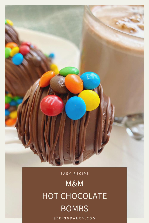 m&m hot chocolate bombs recipe, easy recipes, diy gift ideas, candy recipe, mini m&ms, mini marshmallows, clear glass mug