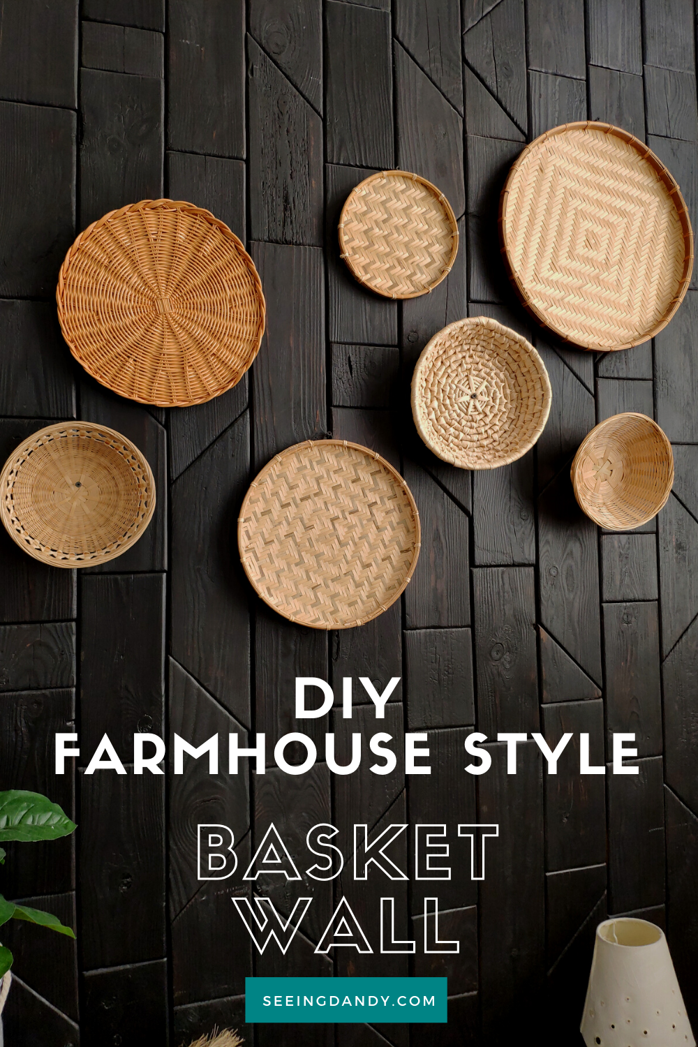 farmhouse style basket wall, diy ideas, for the home, home decor, decorating, decorative wall, fruit baskets, decorative baskets, woven baskets