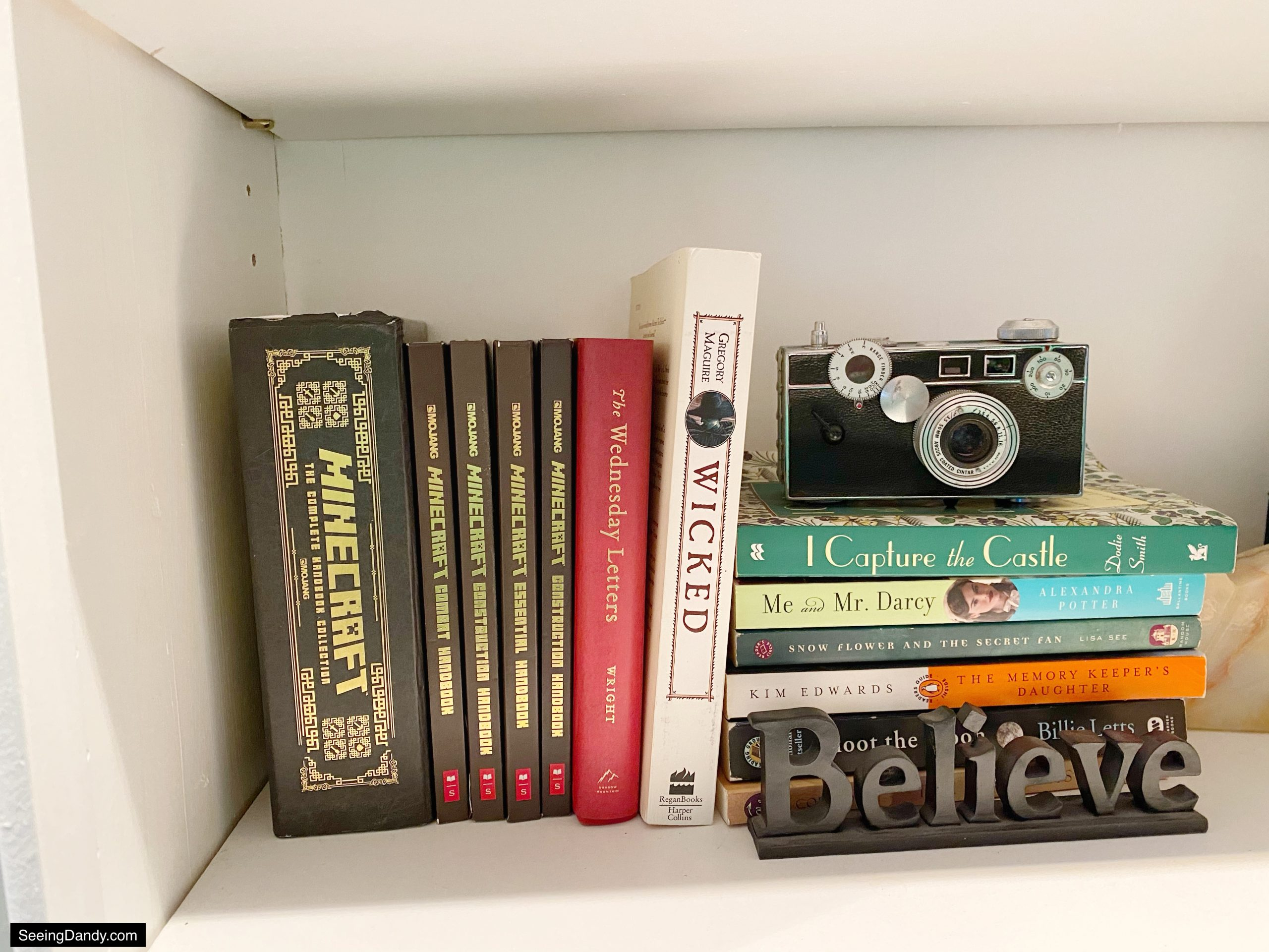 antique camera, i capture the castle, me and mr darcy, wicked book, minecraft official mojang handbook set, minecraft construction handbook, minecraft redstone handbook, minecraft books, minecraft handbooks, minecraft essential handbook, minecraft combat handbook, the wednesday letters