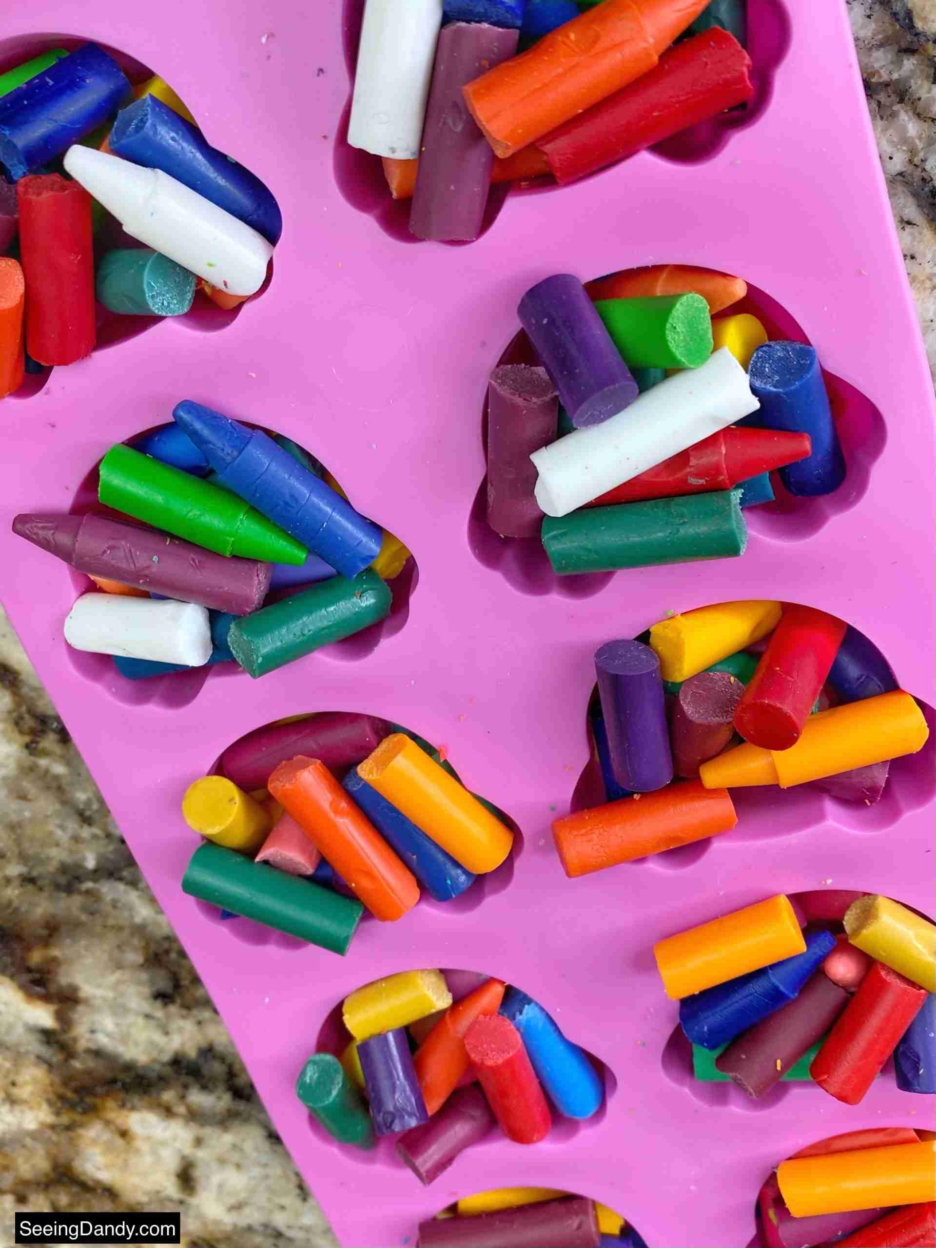 dollar tree crayons, broken crayons, dollar tree bunny bottom silicone mold, granite countertop