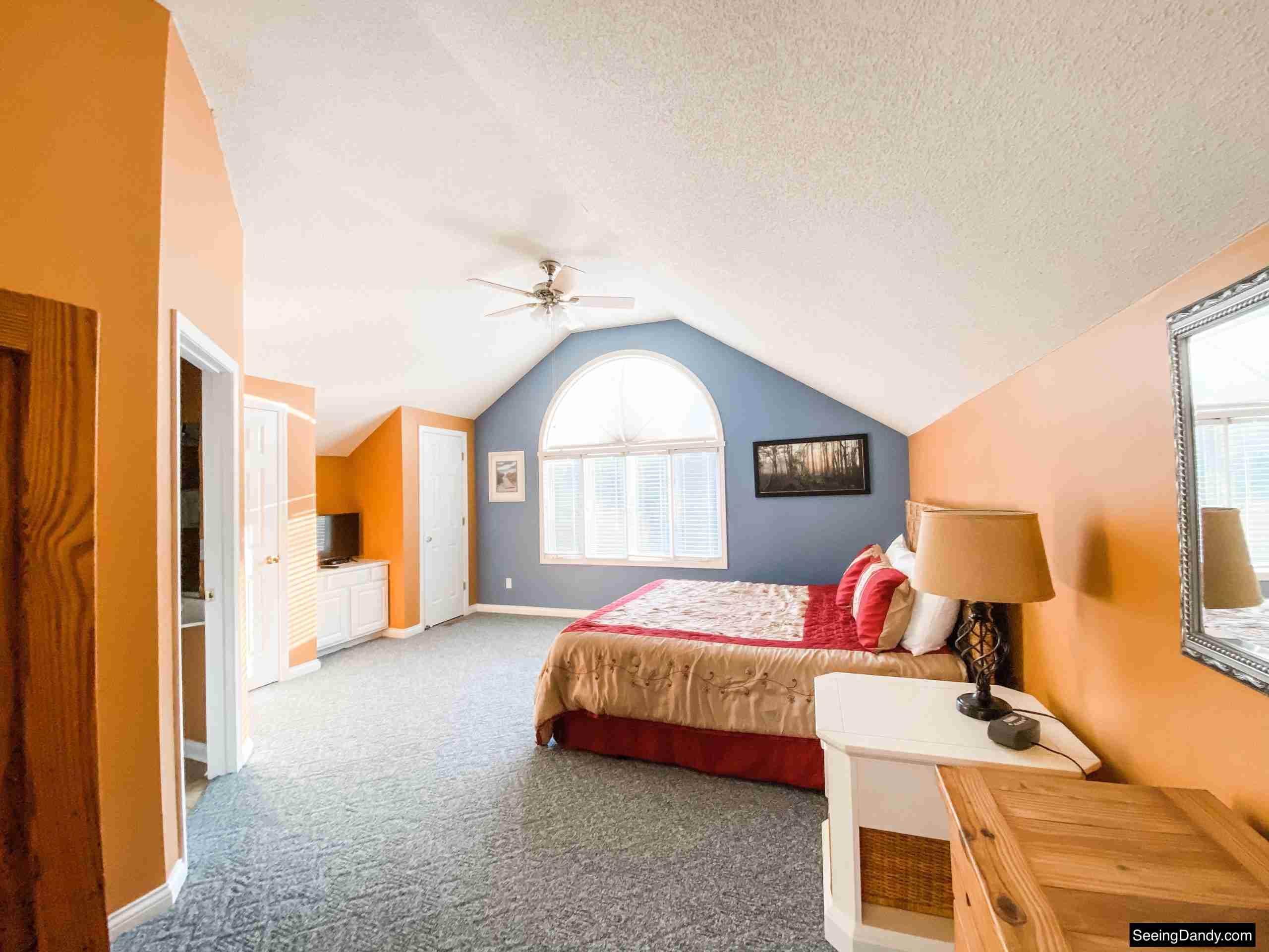 green turtle bay condo, elliebelle condo, condo master bedroom, nautical decor