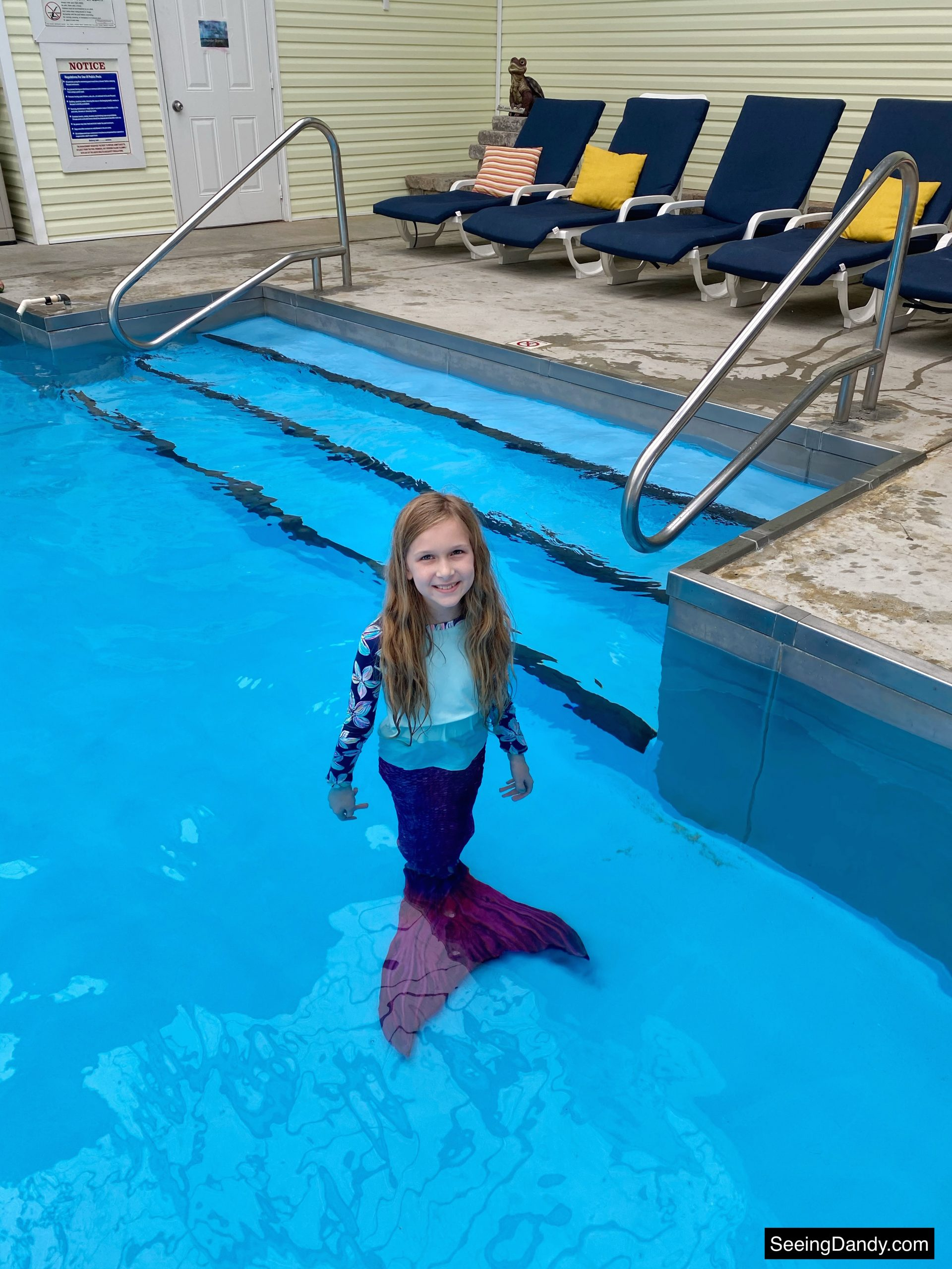 blue pool chairs, sun tails, mermaid tail, suntail, suntails, mermaid fin, monofins, sun tail mermaid, green turtle bay indoor pool, grand rivers kentucky pool, grand rivers resort, family travel
