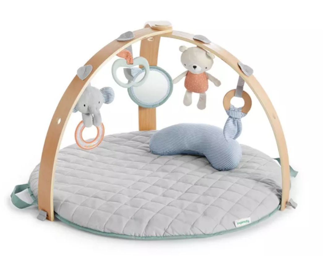loamy ingenuity activity gym, baby gear, cozy spot activity gym, baby shower gifts, gray infant activity gym