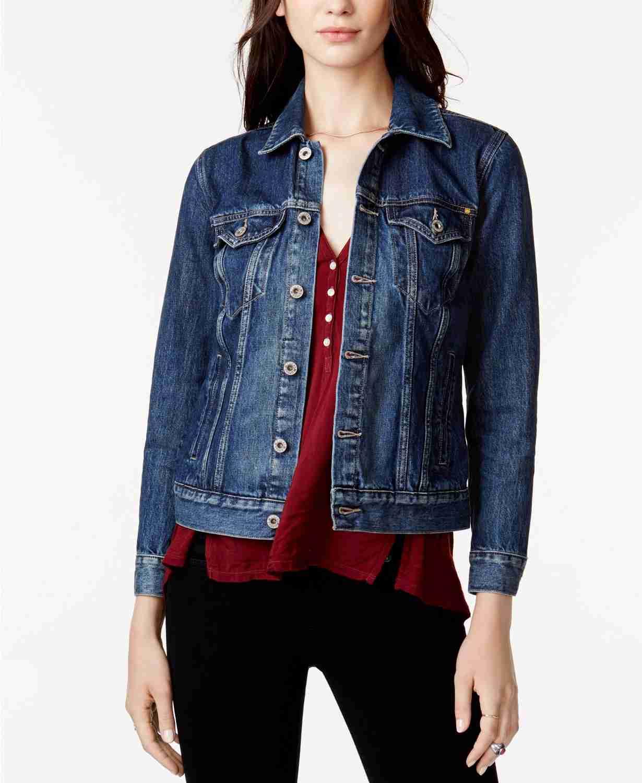 spring fashion, fall fashion, macys sale, cotton denim trucker jacket, lucky brand jean jacket, denim jacket, cotton denim jacket, macys friends and family, macys fashion