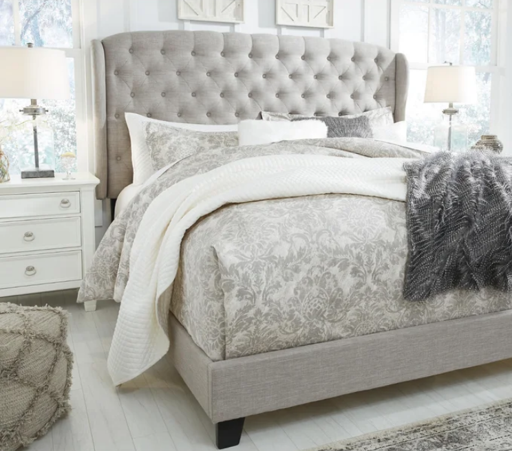 Larios Tufted Upholstered Low Profile Standard Bed, farmhouse style, farmhouse bedroom furniture, wayfair bedroom sets, bed sale, bedding sale