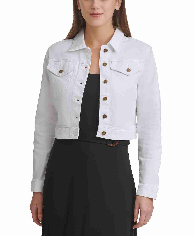 spring fashion, fall fashion, macys sale, calvin klein white jean jacket, denim jacket, cotton denim jacket, macys friends and family, macys fashion, spring style