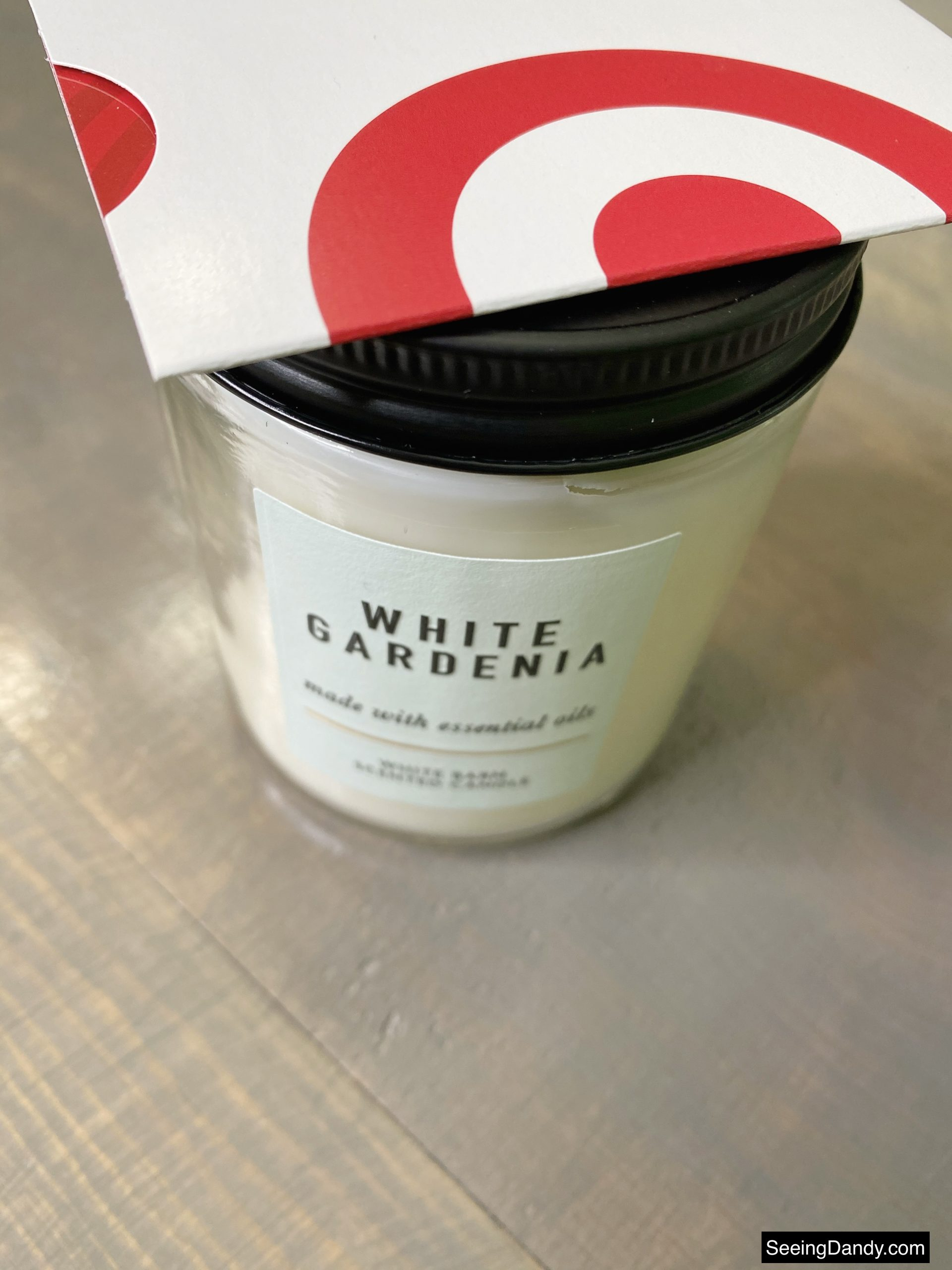 white gardenia candle, bath and body works candle, white barn candle, target gift card, free printable card, white barn scented candle, essential oil candle