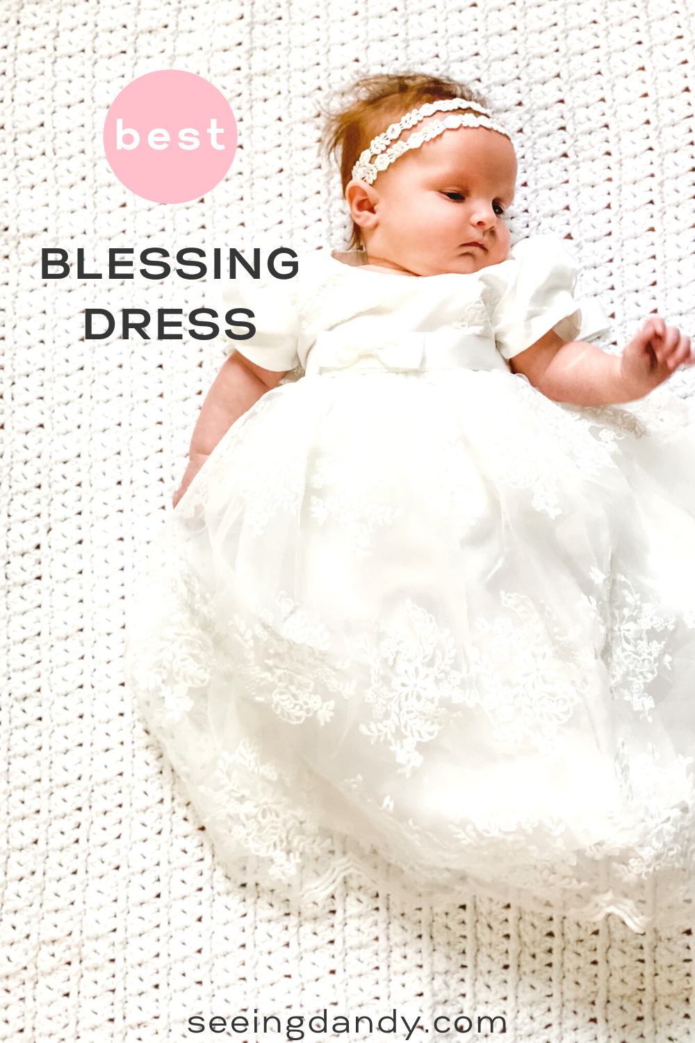glamulice white lace baby dress, christening dresses, embroidery white baby dress, lds blessing dress, lds blessing gown, white crochet baby blanket