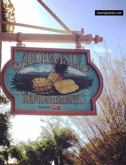aloha isle disney world, disney refreshments, dole pineapple, dole whip, disneyland dessert, disney ice cream, disney food, enchanted tiki room